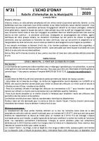 Echo d'onay N°21 12 2020